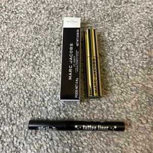Kat von d eyeliner & marc jacobs mascara travel